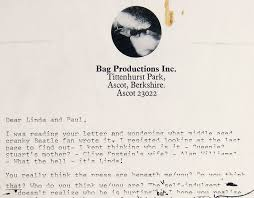 John Lennon's Beatles Breakup Letter Sold At Auction For $30,000 ...