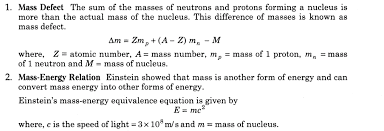 binding energy equation. important questions for cbse class 12 physics mass defect and binding energy equation i