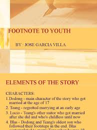 Footnote To Youth 2 Poetry Fiction Literature