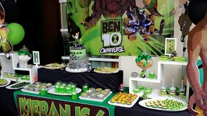 At 40 Party Decorations Ben 10 Birthday Party Ideas Picnikpartyideas
