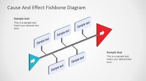 Fishbone Diagram Template 3d Perspective Slidemodel