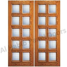 glass wooden double door hpd478 glass