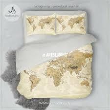 vintage bedding travel world map bedding vintage look world map duvet cover vintage bedding canada vintage bedding