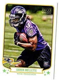 Amazon.com: Football NFL 2013 Topps Magic #12 Aaron Mellette #12 NM+ RC  Rookie Ravens: Collectibles & Fine Art
