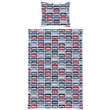 158880 single duvet cover cars red and navy blue