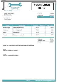 sample invice sample invoices created with our online invoicing software