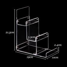 Acrylic Tiered Display Stands Wholesale 100pcs Clear Acrylic Wallet Mobile Phone Display Stand 56