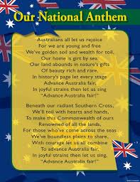 Anthem Chart Our National Anthem Chart Australian Teaching Aids