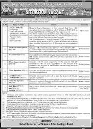 kust sub campus hangu job opportunities th