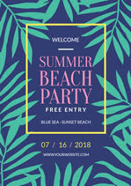 How To Create A Party Flyer Free Beach Party Flyer Designs Designcap Flyer Maker