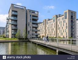 Modern Apartment Buildings Amager Copenhagen Denmark Stock
