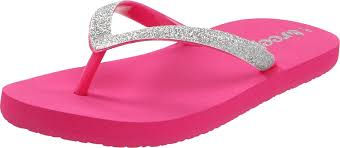 Reef Kids Size Chart Reef Kids Little Stargazer Flip Flop Pink Silver Girls