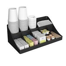 office coffee station. Mind Reader \u0027 Pioneer\u0027 Breakroom Organizer 11 Compartment Condiment Holder, Black Office Coffee Station