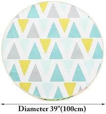 images gallery generic 100cm blue yellow round carpet