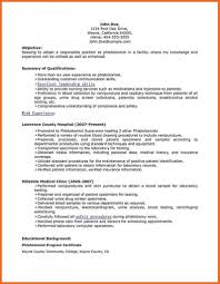 Free Phlebotomist Resume Templates Phlebotomistesume Examples And Guidelines Phlebotomy Samples 49