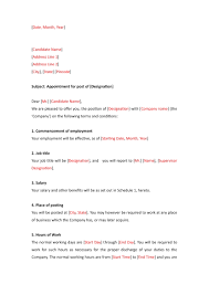 Appointment Letter Format Examples Pdf