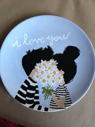 i love you plate more painting pottery