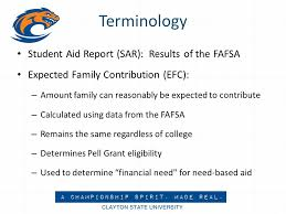 Estimated Expected Family Contribution Efc Chart 2016 Applying For Financial Aid Pat Barton Director Of Financial