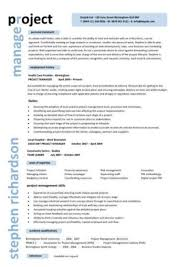 Sample It Project Manager Resumes Project Manager Cv Template Construction Project Management