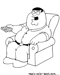 Small Picture Family guy coloring pages online free adult man