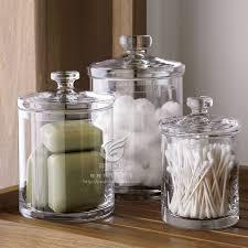 glass bathroom canister
