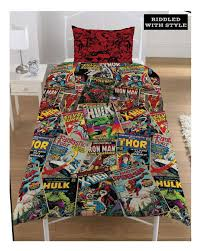 Children Marvel Comic Heroes Single Duvet Quilt Cover Boys ... & Children-Marvel-Comic-Heroes-Single-Duvet-Quilt-Cover- Adamdwight.com