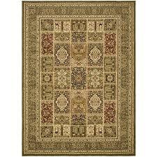 safavieh lyndhurst multicolor and green rectangular indoor machine made area rug common 9