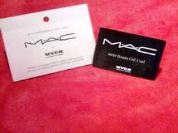 this is a 100 00 mac makeup gift card from myer 39 s