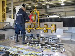 this is very common in loading and shows the need to have the tilting lifter as they cut the parts on a saw then set onto an a frame cart before