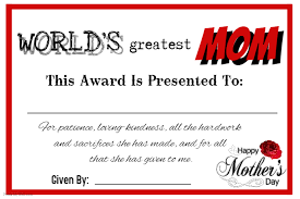 Mothers Day Certificate Template Postermywall