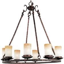 notre dame oil rubbed bronze eight light chandelier
