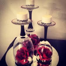 wine glass black and white centerpiece