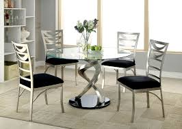 interesting for roxo collection cm3729set in round glass dining table for 6 t