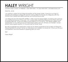 Lifeguard Cover Letter Letter Template