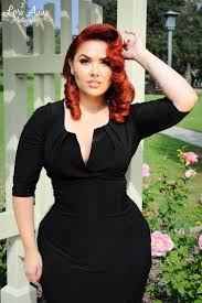 Hair Style For Plus Size final sale katherine ruched panel dress in black pinup girl 5833 by wearticles.com