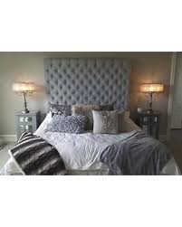 Handcrafted by Samantha Queen Velvet Crystal Diamond Tufted Headboard and Upholstered Bed Frame Set-, Extra Tall from Amazon | People