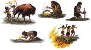 Resultado de imagen de Los hombres del Paleolítico no sabían como conservar los alimentos, por lo tanto, cada día debían proveerse de su comida.