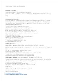 Maintenance Worker Resume Templates At