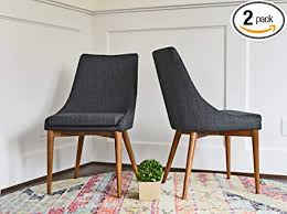 upholstered dining chairs mid century modern dining room chairs set of 2 dark