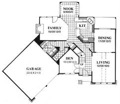 floor plan first story of contemporary plan 149 1707