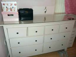 ikea chest of drawers glass dresser large chest drawers and top great condition in for front