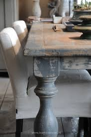 Soften A Wooden Table With Upholstered Chairs Mix It Up With A - Distressed dining room table and chairs