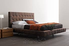 Omega Leather Bed by Presotto room service 360