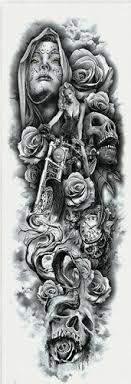 B Top Voděodolné Dočasné Tetování Motiv žena černá