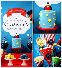 8 Outer Space And Candy Little Boy Birthday Party Ideas For Boys