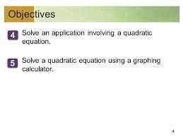 solve an involving a quadratic equation