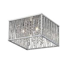 home decorators collection sophia collection 16 in 4 light chrome square flushmount with glass