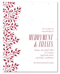holiday invitations busines holiday invitations on seeded paper red berries by green