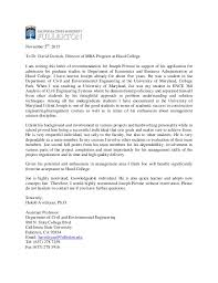letter of recommendation from college professor best ideas of letter of recommendation for mba from college