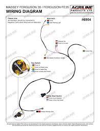 massey ferguson pre 100 series 35 3cyl 6904 technical diagrams